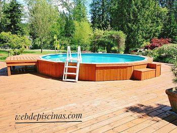 mejores piscinas desmontables elevadas