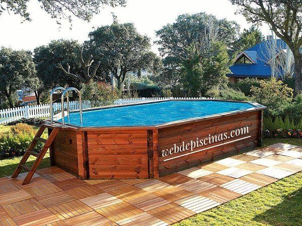 mejor piscina desmontable de madera