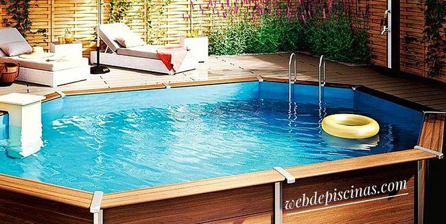 mejor piscina desmontable tubular de madera